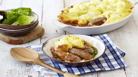 It's back to the basics with this banger and mash recipe - but with a twist!
