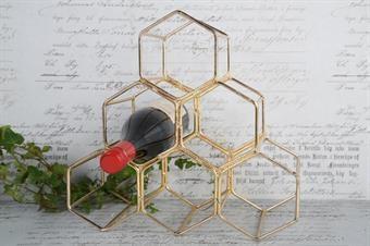 Vinställ guldfärgat H34 cm