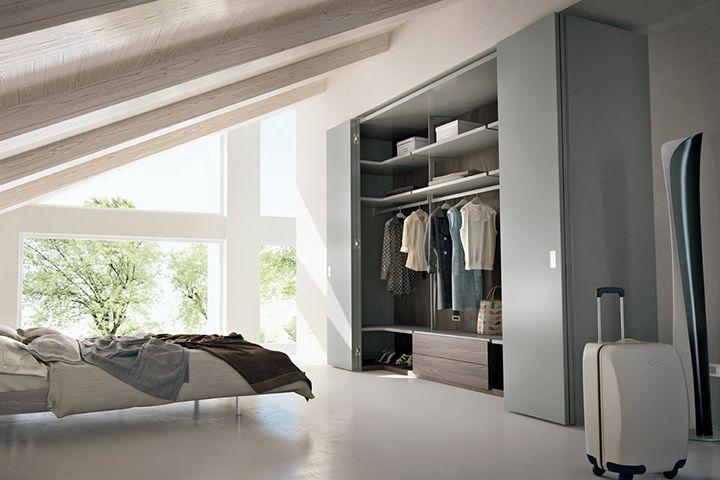 Sectional walk-in wardrobe Camerino DB by Caccaro