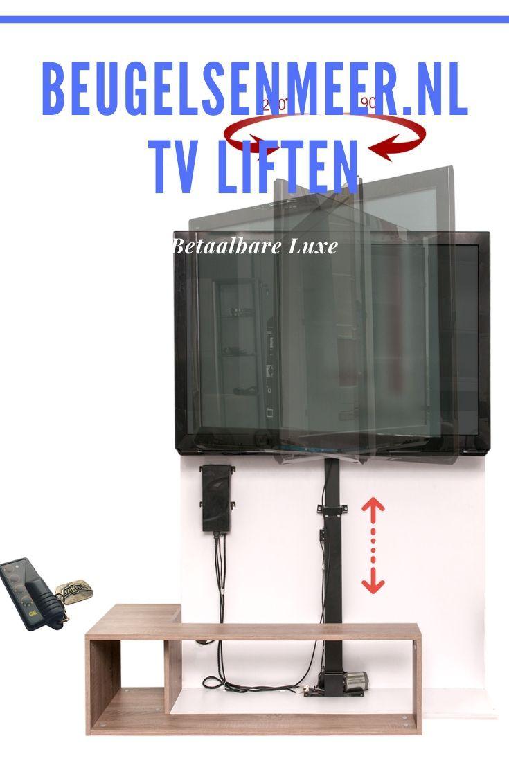 Tv Beugel Voor In Kast.Check It Out Now Laat Je Tv De Kast Uit Komen Kast Lift