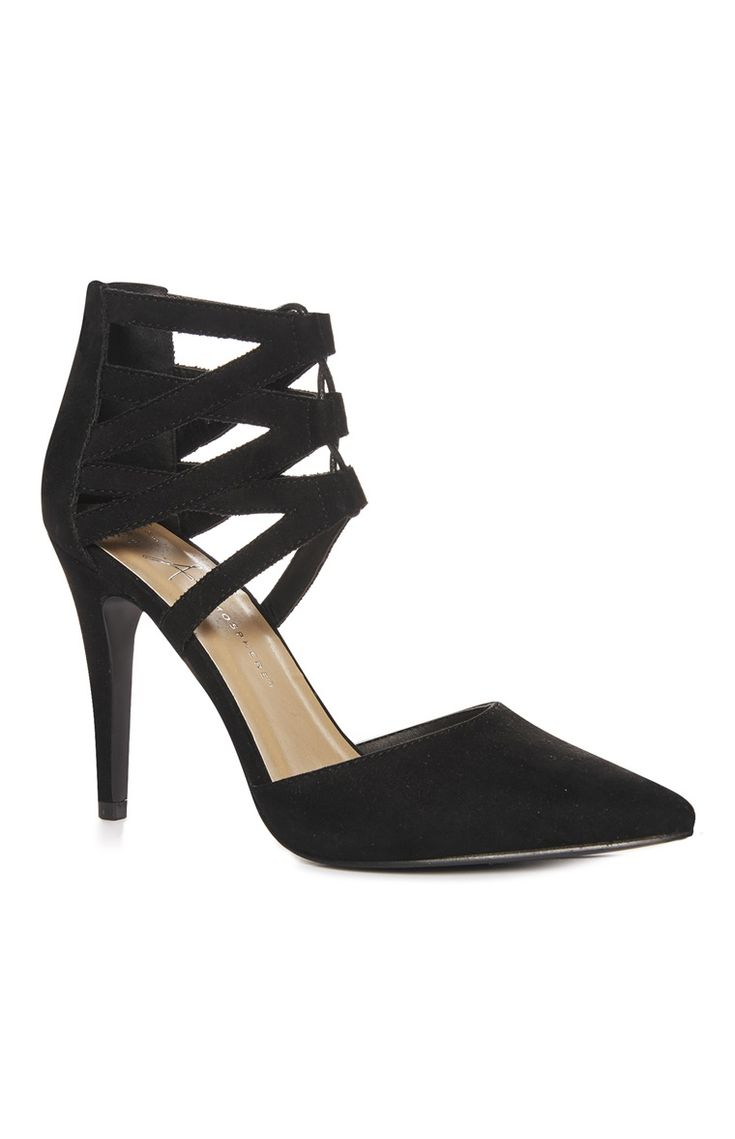 The Most Stylish Black Cutout Ghillie Heel For Primark Ladies