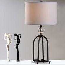 Retro iron tafellamp slaapkamer bedlampje crystal Desk tafellamp eenvoudige Europese creatieve woonkamer decoratieve verlichting(China (Mainland))