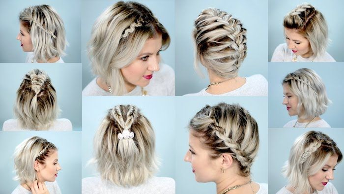 1001 Inspirierende Ideen Fur Einfache Frisuren Fur Den Alltag Geflochtene Frisuren Fur Kurze Haare Schulterlange Haare Flechten Zopf Kurze Haare