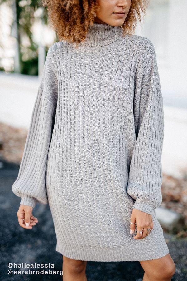 fe0a098b9a Slide View  1  UO Jill Turtleneck Sweater Mini Dress