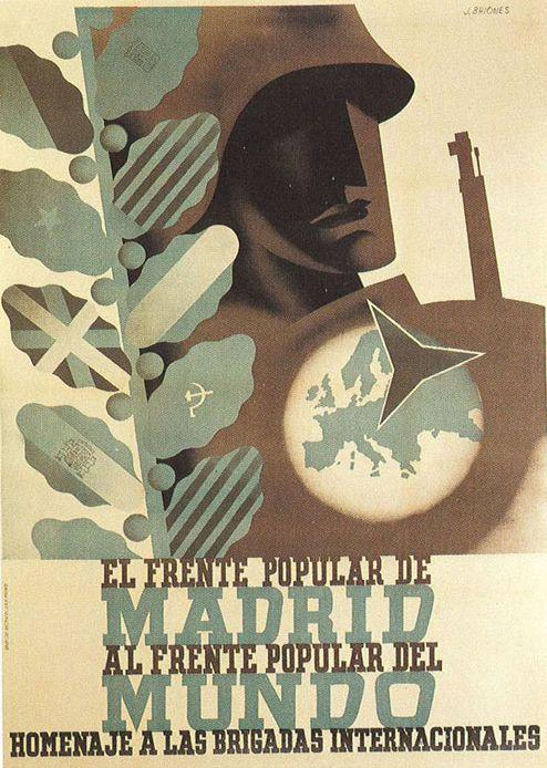 By José Briones (1905-1975), Republican poster Spanish Civil War. (Spain)