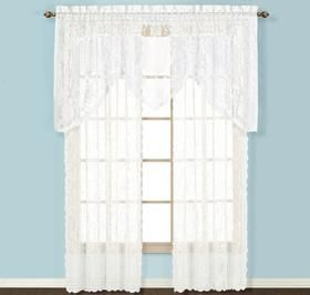 Lace Curtain Panels & Valance @ Harriet Carter