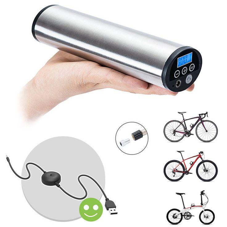 CYCPLUS 2 en 1 150PSI USB portable rechargeable gonflable automatique pour tous les modèles Vélo avec Schrader / Presta LED de surveillance de pression Éclairage d'urgence Vente - Banggood.com