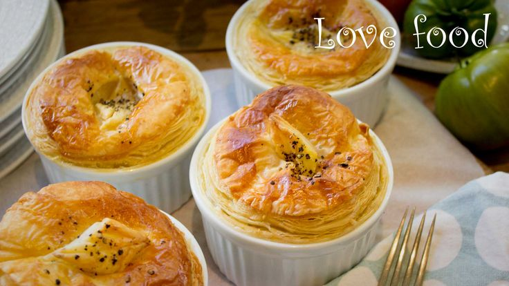 Beef onion and ale pot pies