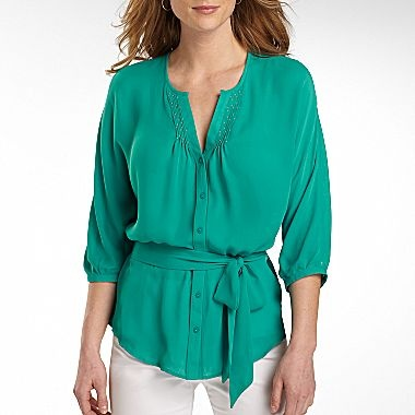 Worthington Peasant Blouse Jcpenney Tops Pinterest How To