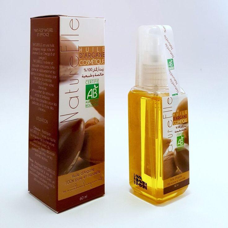 Olio Argan  certificato ECOCERT e Agricoltura Biologica - Dosatore 60 ml