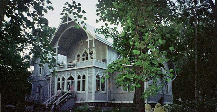 Villa Angelica café in old villa. Tamminiementie 3
