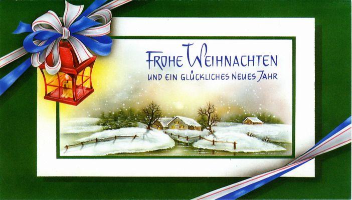 Дню, открытка с немецким рождеством