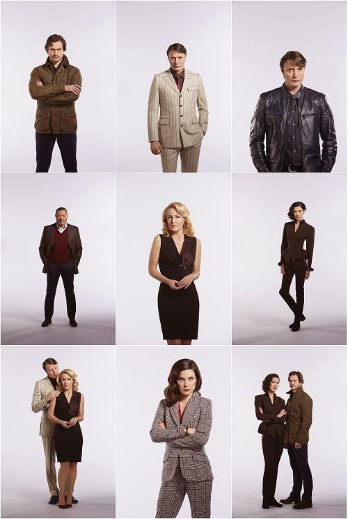 Site Update: Hannibal - Season 3 HQ Tagless Cast Portraits x17