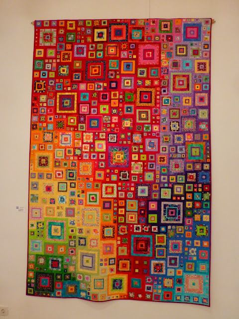 It is a quilt - but would make a beautiful painting. Also a good idea for a group art project with kids!could be a good colour guide for stained Glass