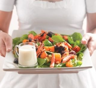 Roasted Vegetable Salad with Walnuts and Orange Dressing