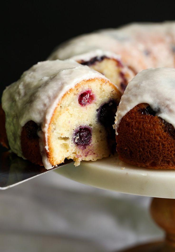 Super moist Sour Cream Blueberry Bundt Cake