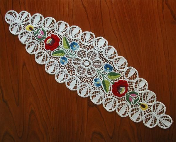 http://www.rubylane.com/item/568322-rl5213/Vintage-Kalocsa-Hungarian-Embroidery-Lace