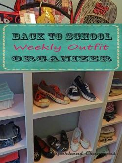 Back to School Weekly Outfit Organizer! Super easy to build. Plans on the site!