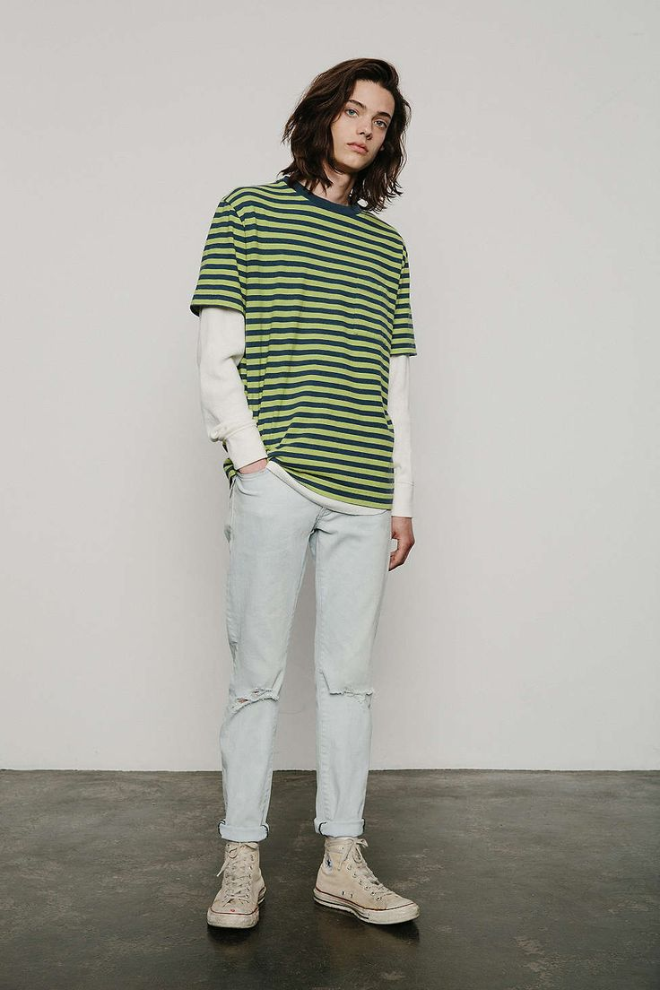 Neuw Iggy White Void Destroyed Skinny Jean - Urban Outfitters