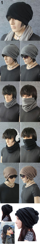 2016 Dual - use Hats Women Men Scarf Cool Fashion Slouch Winter Knit Scarf Hip-Hop Hats Ear cap  8ODX