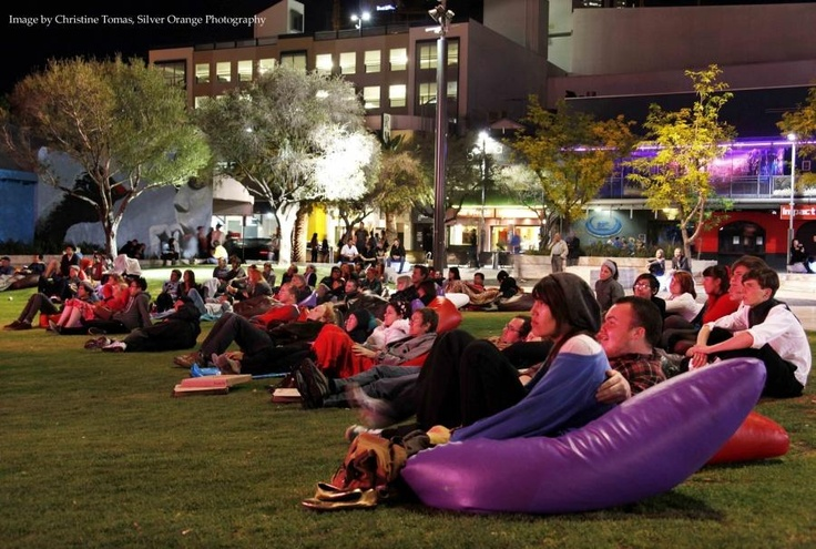 Xmas films at the Northbridge Piazza Perth Western Australia
