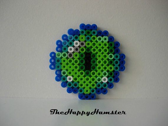 Perler Bead Minecraft Eye of Ender    Ironed on Both Sides For Extra Durability    2 1/2