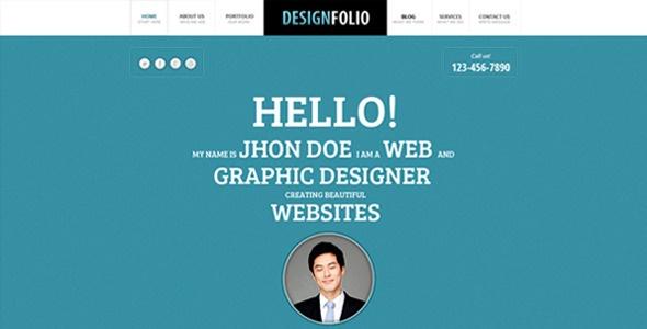 Design Folio - ThemeForest Item for Sale