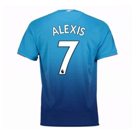 Arsenal Alexis Sanchez 7 Udebanetrøje 17-18 Kort ærmer