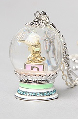 Disney Couture Jewelry The Icon Collection Tinkerbell Snow Globe Necklace.  Karmaloop.com - Global Concrete Culture.