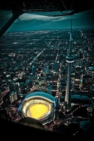 Toronto from a helicopter. I still have never been to Canada :(