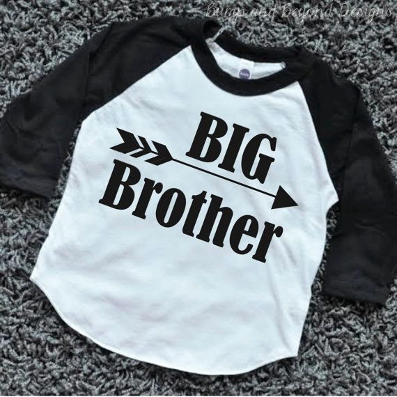 Big Brother Shirt Baby Announcement Shirt Boy Sibling Shirts New Baby Announcement Shirt Big Brother Raglan Arrow Hipster Shirt by BumpAndBeyondDesigns