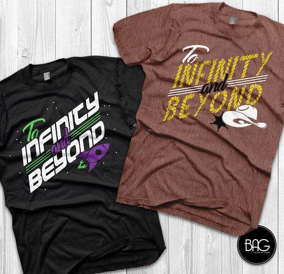 fa59864fc To Infinity and Beyond Shirts Disney Couples Shirts Toy story Custom Matching  Shirts Couple T-shirts vacation shirts