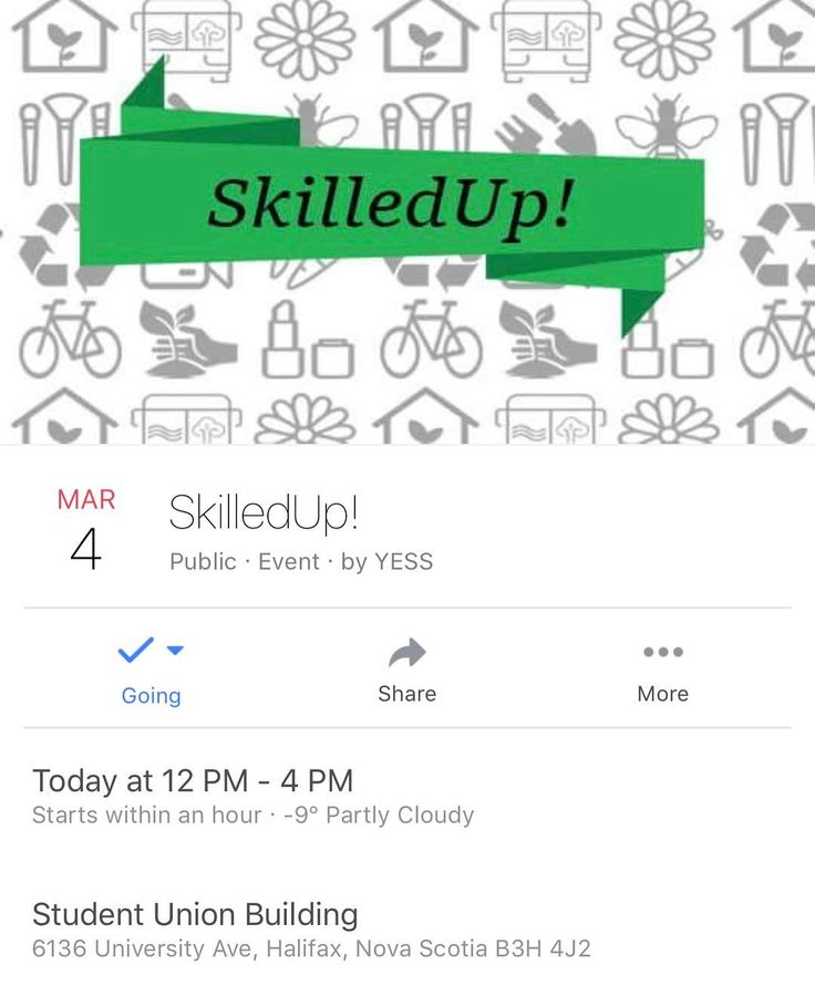 TODAY Do you want to learn how to fix a bike? Grow your own food? Dye your own fabrics using natural materials? At SkilledUp you can learn all of this and so much more!  SkilledUp is an annual one day event with 9 workshops to help you gain (and share) sustainability skills within your community.  YESS has partnered with Dalhousie Urban Garden Dalhousie Student Union Sustainability Office The Loaded Ladle Environmental Programs Student Society - EPSS Dalhousie Outdoors Society and Divest Dal…