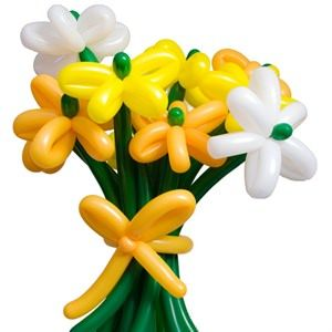 I want one of these for my birthday lol. It's a bouquet of balloons shaped liked flowers. So original <3