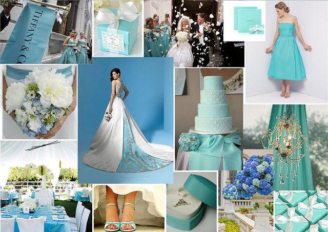 fantasy themed wedding ideas | tiffany-wedding-theme-wedding-dress-bridesmaid-dress.jpg