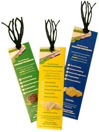 Girl Scout Cookie Bookmarks are a perfect way to reuse your empty cookie boxes and promote the love of reading.  Your Girl Scout Troop can donate them to the local library or elementary school as part of a service project. Instructions and supply list included. www.makingfriends.com