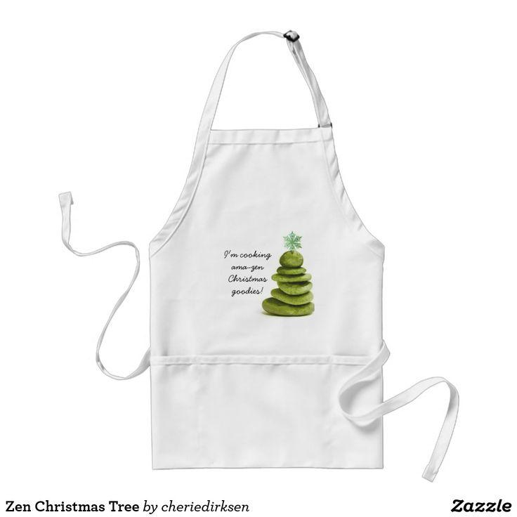 Zen Christmas Tree Adult Apron
