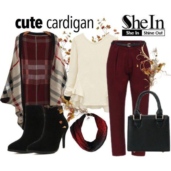Cute Cardigan - Sheinside by gabriele-bernhard on Polyvore featuring mode, Sheinside, shein and mycardi