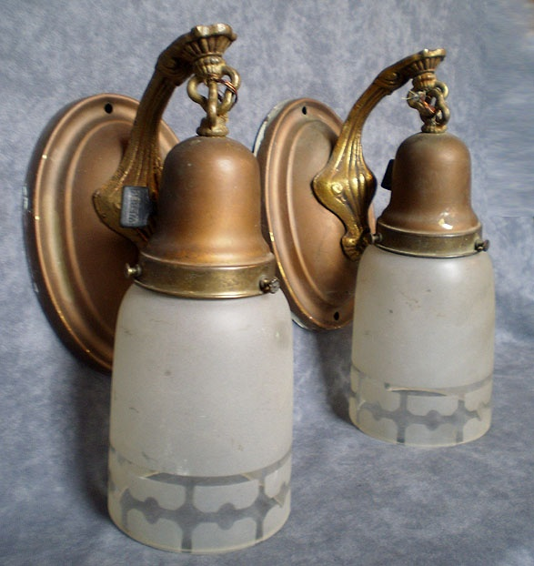 Wall Sconce Lamp Parts : Pair antique wall sconce Antique Lamps, Parts, Pieces Pinterest Sconces, Antiques and Wall ...