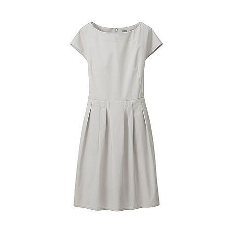 WOMEN Crisp Cotton Short Sleeve Dress