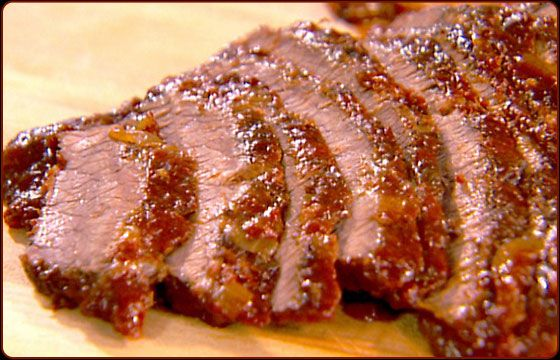 Smoked Corned Beef Brisket~Once you taste corned beef cooked in its own juices on your Traeger pellet grill, you'll never go back to boiled corned beef. And leftovers, if you have any, make terrific Rueben sandwiches. See a recipe below.