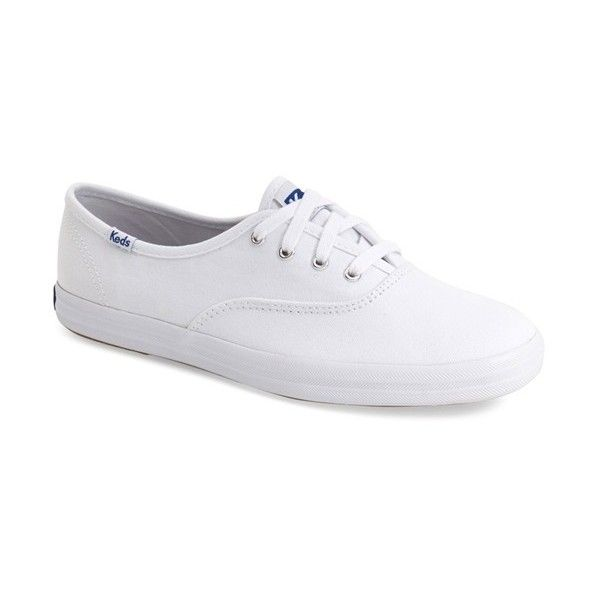 Keds 'Champion' Canvas Sneaker ($30) ❤ liked on Polyvore featuring shoes, sneakers and white canvas