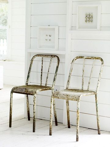 #rusty Metal Chairs