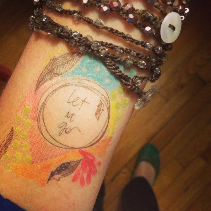 Watercolor Tattoo - let it go