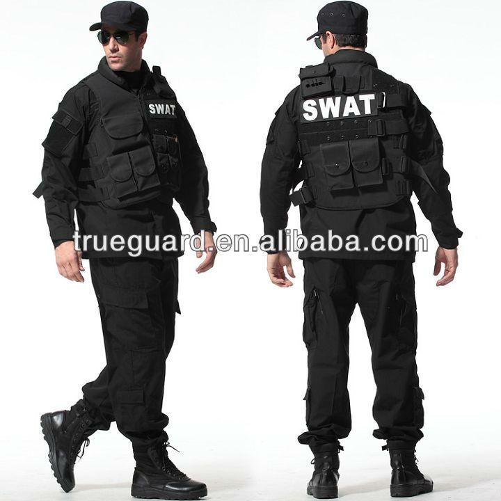 #Black BDU Army Uniform, #Tactical Security Uniform, #Camouflage Jacket
