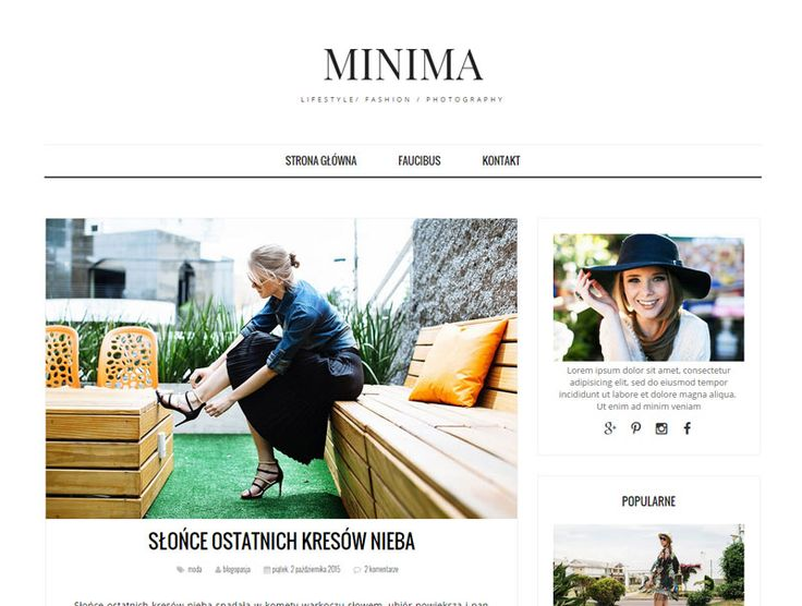 Szablon MINIMA: gotowy wygląd bloga blogspot.