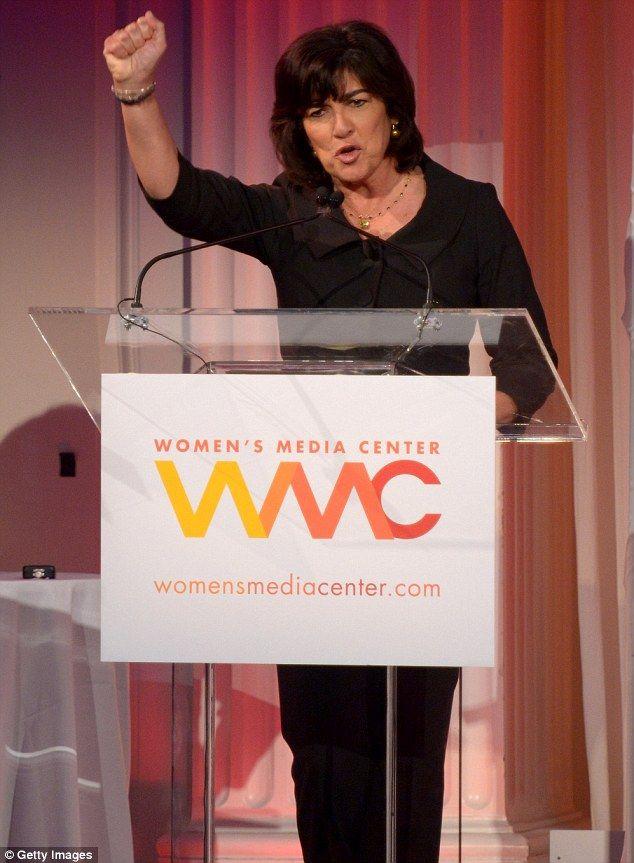Got the power: Journalist Christiane Amanpour got the Pat Mitchell Lifetime Achievement Award Read more: http://www.dailymail.co.uk/tvshowbiz/article-2450612/Jane-Fonda-looks-far-younger-75-years-sparkly-jacket-skinny-jeans-Womens-Media-Awards.html#ixzz2hKnsdz2S