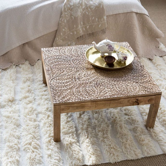 Fl Carved Coffee Table Occasional Furniture Decoration Zara Home Spain