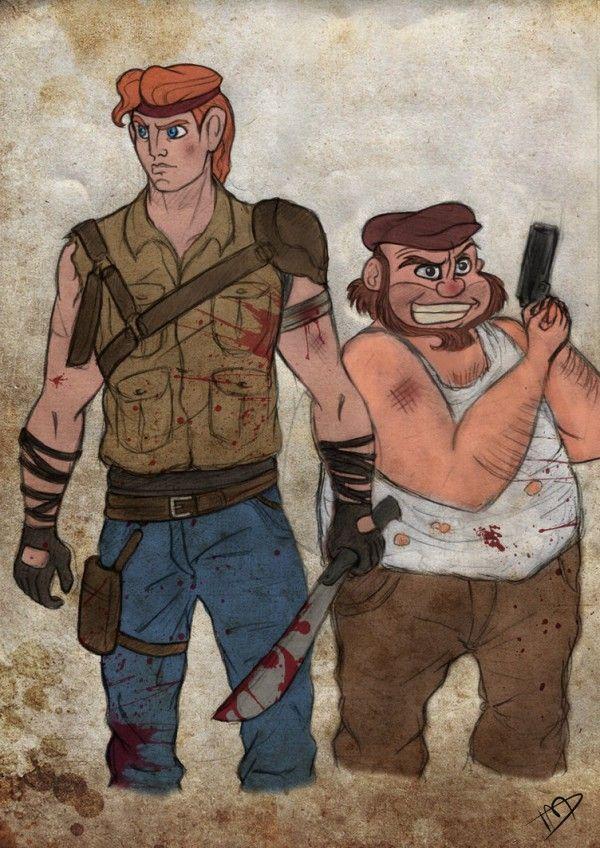 les personnages de disney en the walking dead 11   Les personnages de Disney en The Walking Dead   The Walking Dead photo parodie michonne k...