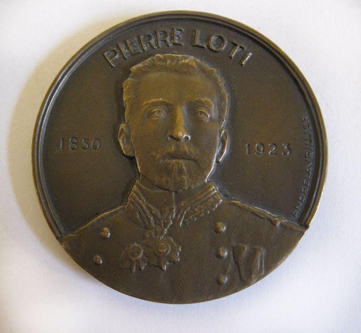 Pierre Loti Bronze Ships Medallion 1953 Des Messageries Maritimes - France